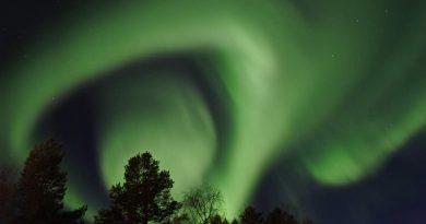Auroras boreales fotografiadas desde Porjus, Suecia