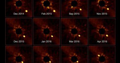 Astrónomos obtienen imágenes de un exoplaneta orbitando a la estrella Beta Pictoris