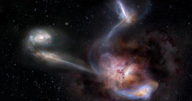 Corrientes transgalácticas alimentan a la galaxia más brillante del Universo