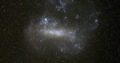 Imagen de la Gran Nube de Magallanes tomada desde Sudáfrica