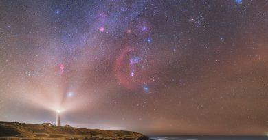 Foto de la Vía Láctea y la constelación de Orión tomada desde Dinamarca