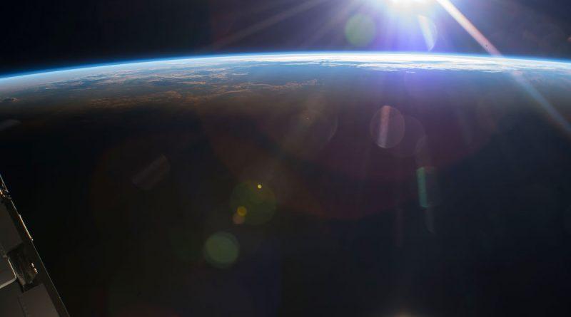 El atardecer captado desde la Estación Espacial Internacional