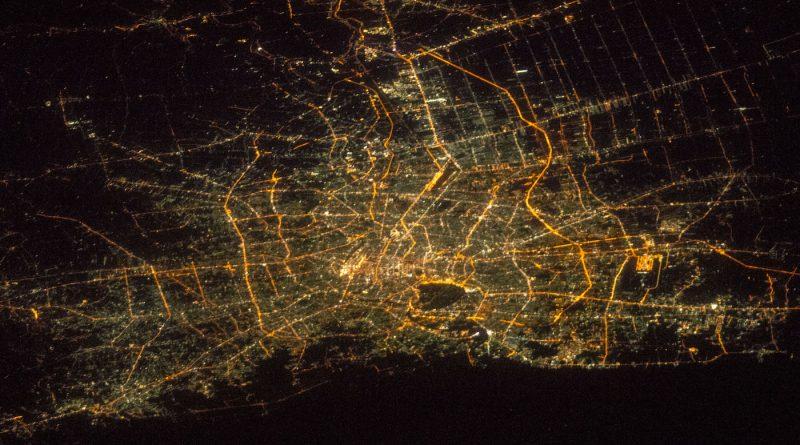 La ciudad de Bangkok, Tailandia, fotografiada desde la ISS