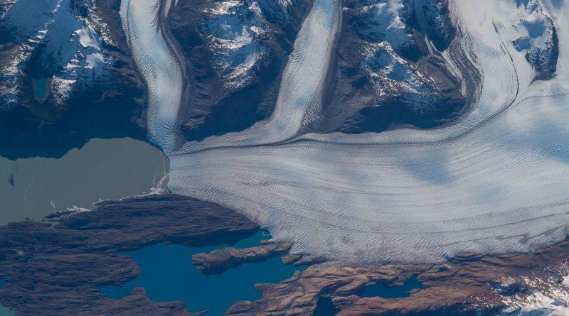 El glaciar Upsala (Argentina) fotografiado desde la Estación Espacial Internacional