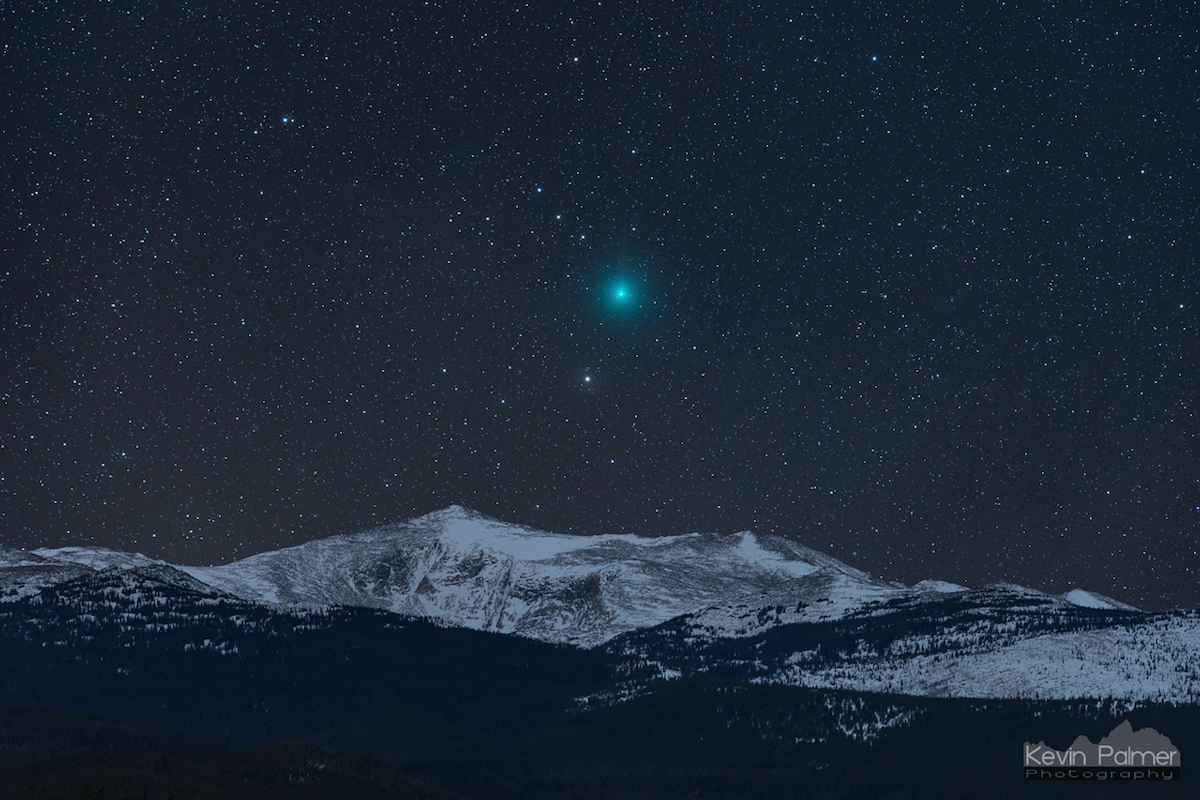 Imagen del Cometa 46P/Wirtanen tomada desde Wyoming, Estados Unidos