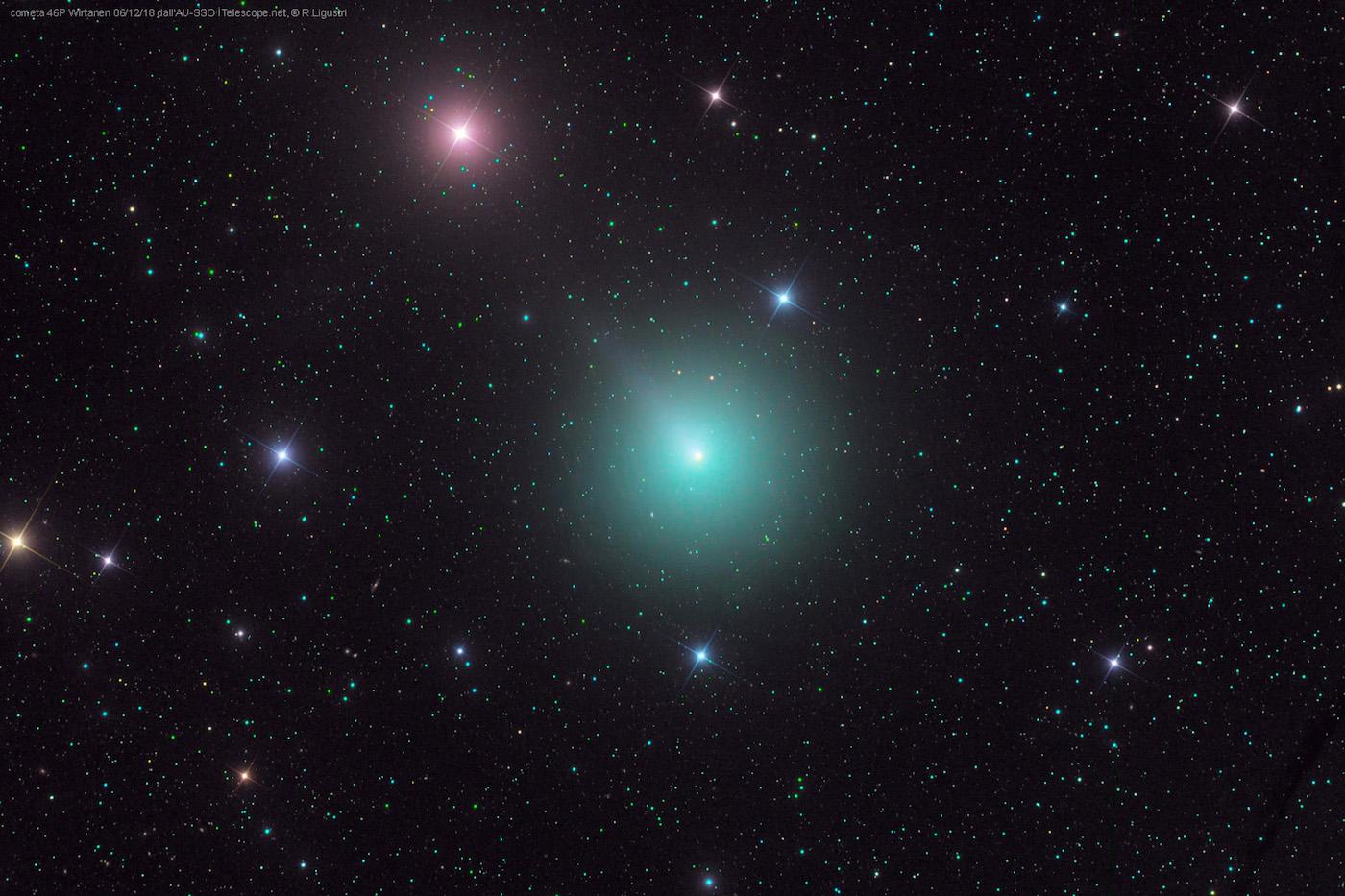 Imagen del Cometa 46P/Wirtanen tomada el 6 de diciembre
