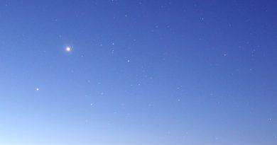 Venus y Júpiter fotografiados sobre Yuzhno-Morskoy, Rusia