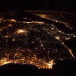 La Península Ibérica fotografiada desde la Estación Espacial Internacional