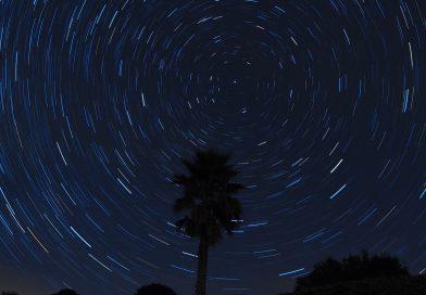 Imagen de rastro de estrellas tomada desde Arenys de Munt, Barcelona