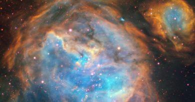 Burbujas gigantes producidas por estrellas recién nacidas