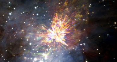 El explosivo nacimiento de una estrella