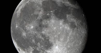 Foto de la Luna tomada desde Washington, Estados Unidos