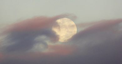Fotografía de la Luna tomada desde Zimbabue (20 de febrero)