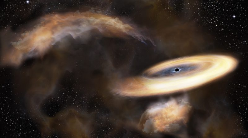 Descubren un agujero negro cerca del centro de la Vía Láctea