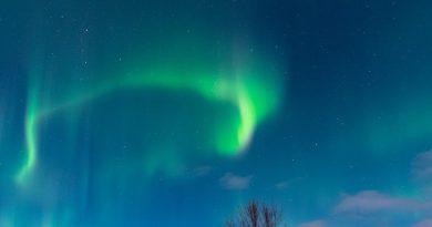 Auroras boreales fotografiadas desde Salla, Finlandia