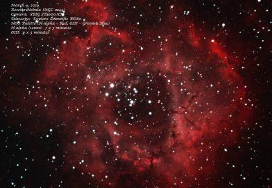Imagen de la Nebulosa Roseta tomada el 4 de marzo