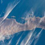 Imagen de la Península de Baja California tomada desde la ISS