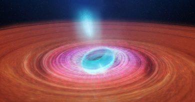 Astrónomos observan un agujero negro expulsando nubes de plasma en diferentes direcciones