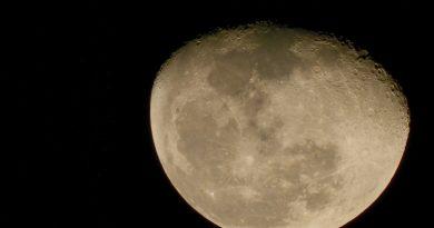 Saturno y la Luna fotografiados desde Israel