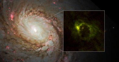 La región central de la galaxia espiral Messier 77