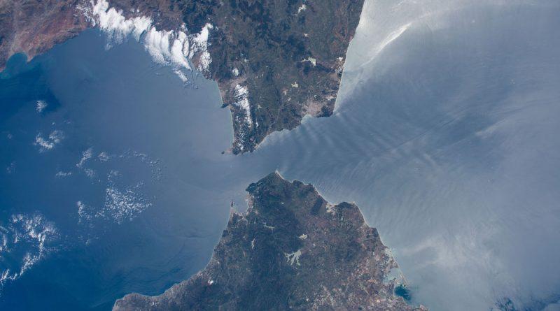 Foto del estrecho de Gibraltar tomada desde la Estación Espacial Internacional
