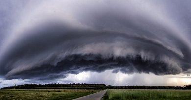 Tormenta fotografiada desde Borówiec, Polonia