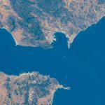 El estrecho de Gibraltar fotografiado desde la Estación Espacial Internacional