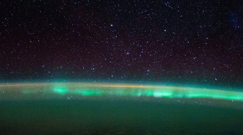 Auroras australes fotografiadas desde la ISS