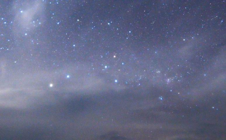 Imagen de las constelaciones de Centauro y la Cruz del Sur