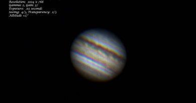 Imagen de Júpiter tomada el 15 de junio de 2019