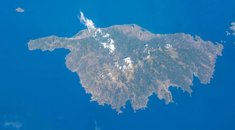 La isla de Córcega fotografiada desde la Estación Espacial Internacional