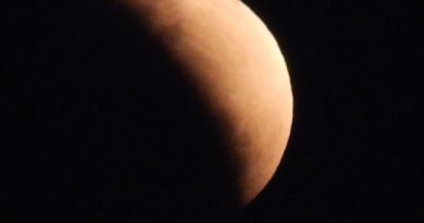 Imagen del eclipse parcial de Luna tomada desde Tacuarembó, Uruguay