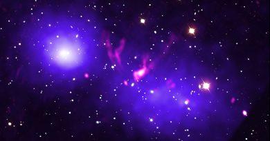 Astrónomos observan el encuentro cercano entre dos cúmulos galácticos