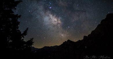 La Vía Láctea fotografiada desde Spitzwiesle, Austria