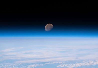 La Luna fotografiada desde la Estación Espacial Internacional