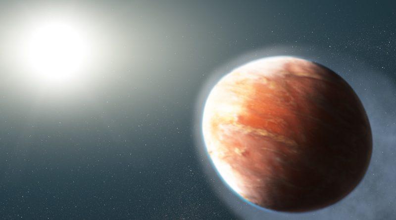 Descubren un exoplaneta gigante con forma ovalada