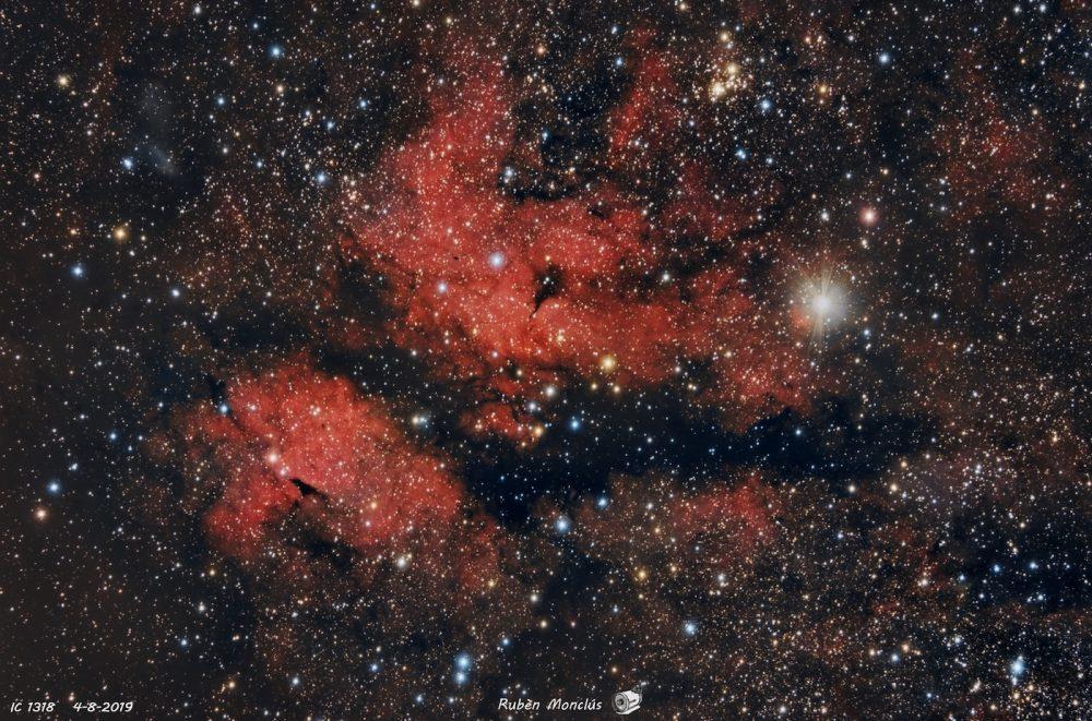 Imagen de la Nebulosa de la Mariposa tomada desde Huesca, España