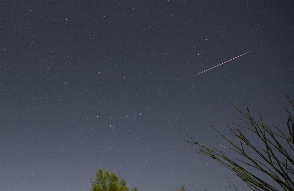 Imagen de una perseida captada desde Tucson, Arizona