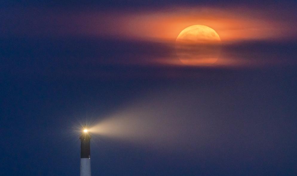 Foto de la Luna tomada desde Nueva York (15-agosto)