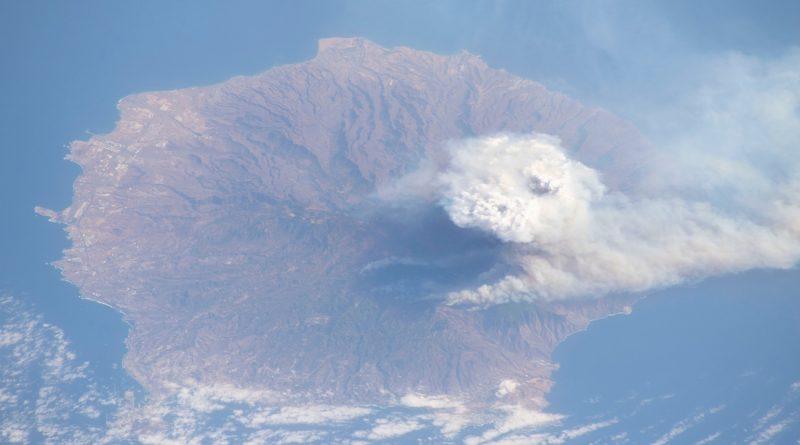 La isla de Gran Canaria fotografiada desde la ISS (18-agosto-2019)