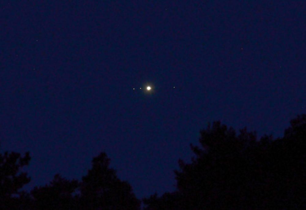 Fotografía de Júpiter tomada desde Escaro, Francia