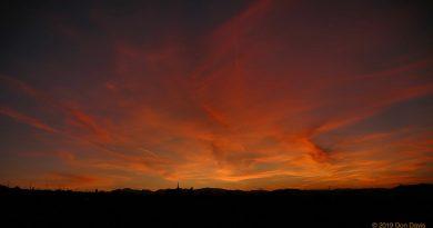 Fotografía del atardecer tomada desde California, Estados Unidos