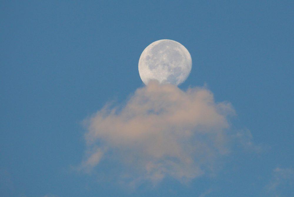 Imagen de la Luna tomada desde Arenys de Munt, Barcelona