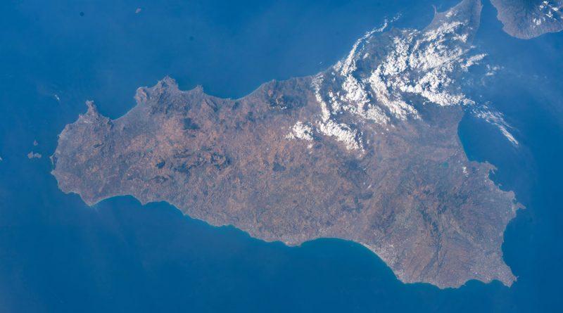 Imagen de la isla de Sicilia tomada desde la Estación Espacial Internacional