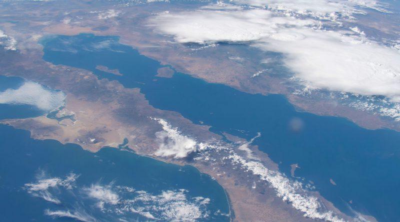 Imagen de la península de Baja California y el Mar de Cortés