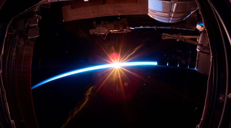 La puesta de Sol fotografiada desde la Estación Espacial Internacional