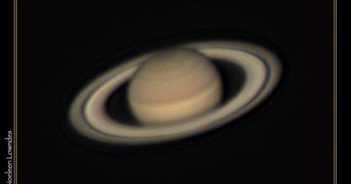 Imagen de Saturno tomada desde Queensland, Australia