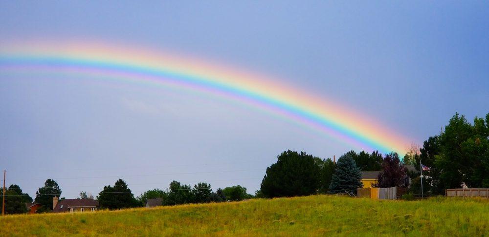Arcoíris fotografiado desde Colorado, Estados Unidos