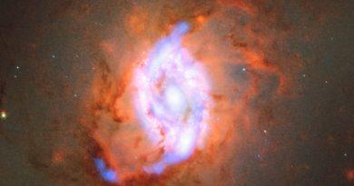 Astrónomos observan un anillo repleto de estrellas recién formadas en la galaxia Messier 95