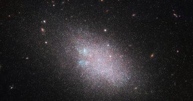 El Hubble observa un enjambre de estrellas en una galaxia enana